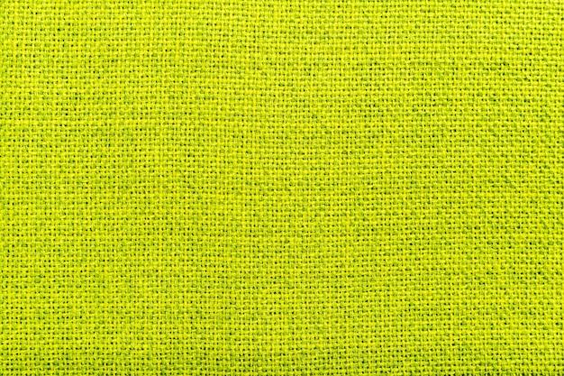 Fond de texture de matériau textile en lin naturel vert