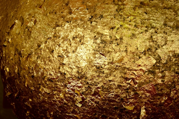 Fond de texture en métal grunge or