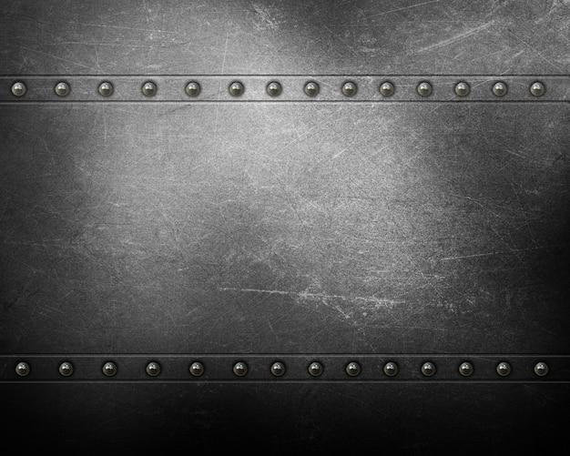 Fond de texture en métal avec des rivets