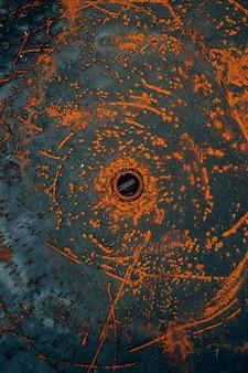 Fond de texture en métal rouillé couleur orange