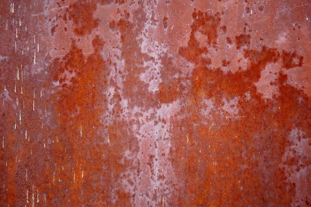 Fond de texture en métal rouillé usé foncé.