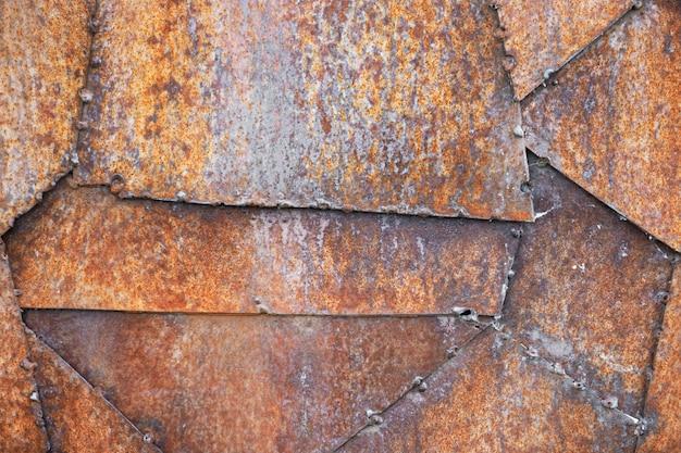 Fond de texture en métal rouille.