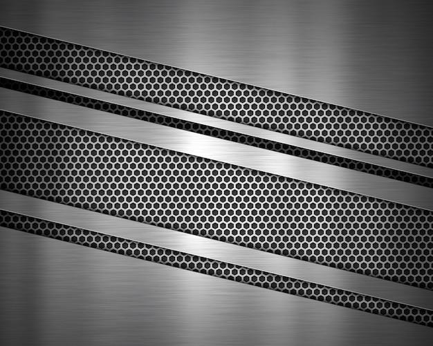 Fond de texture métallique abstraite