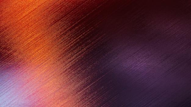 Fond de texture métallique avec effet de lumière coloré