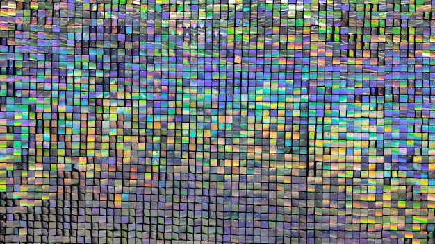 Fond et texture de miroir arc-en-ciel coloré festif.