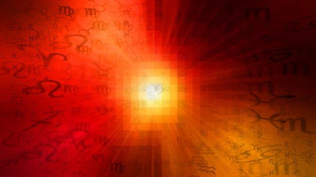Fond de texture de modèle d'horoscope d'astrologie de zodiaque rouge, conception graphique