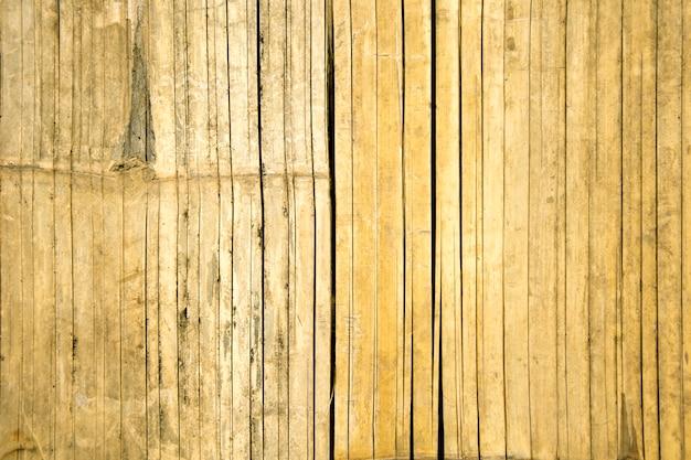 Fond de texture de mur de bambou tropical