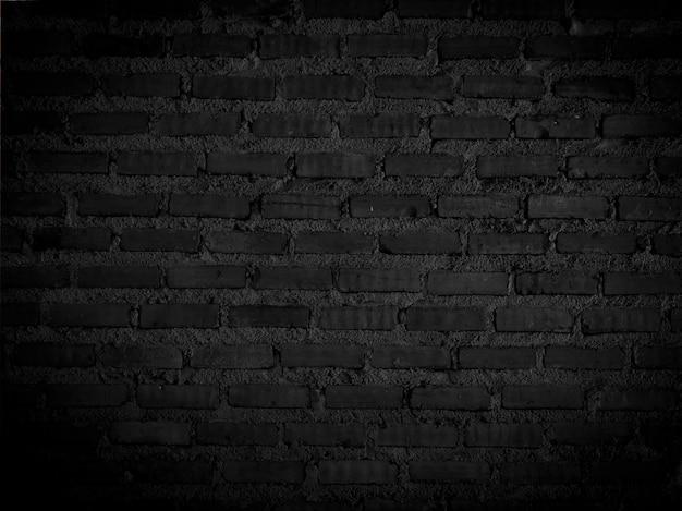 Fond de texture de mur de brique grunge noir foncé avec un vieux motif de style sale et vintage.