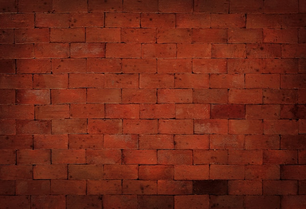 Fond de texture de mur de brique grunge noir et rouge avec une vieille surface de style sale et vintage