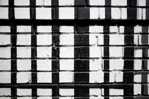 Fond de texture de mur de brique noir et blanc hd
