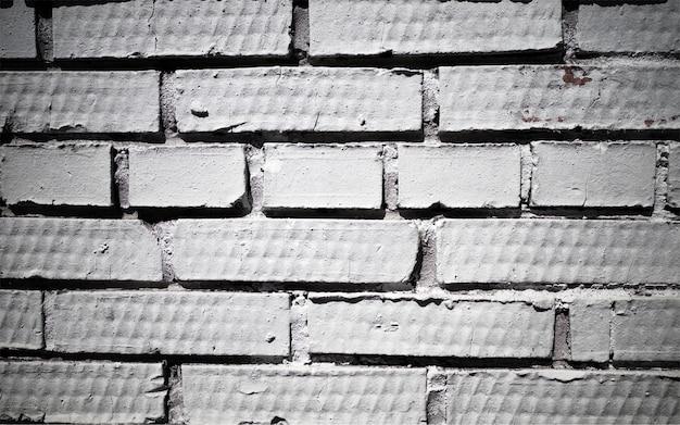 Fond de texture de mur de brique noir et blanc horizontal hd