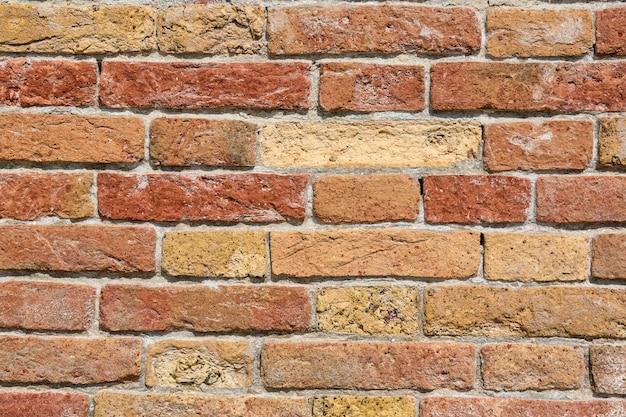 Fond de texture de mur de brique rouge grunge