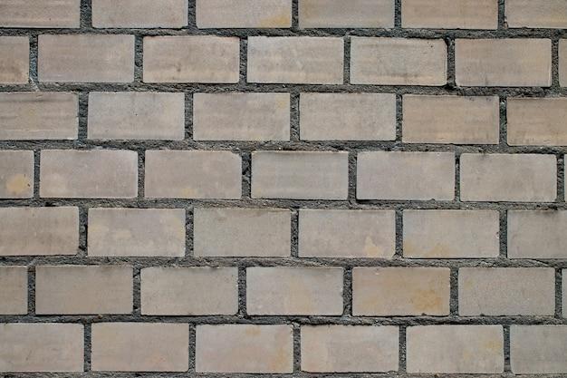 Fond texturé de mur de brique vide.