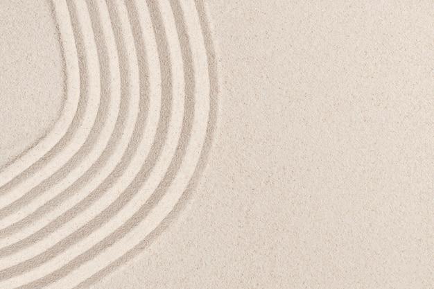 Fond texturé nature vague de sable dans le concept de bien-être