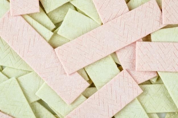 Fond texturé de nombreuses plaques de chewing-gum