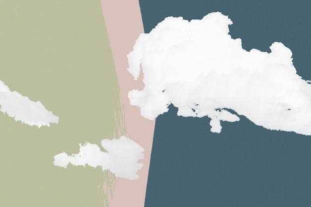 Fond texturé nuageux coloré