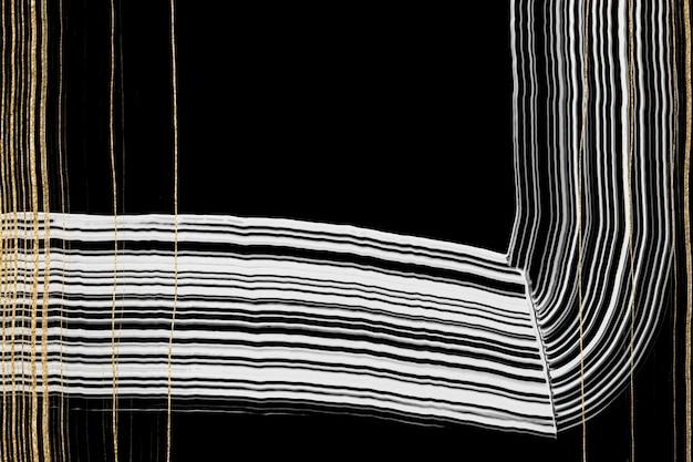 Fond texturé or de luxe dans l'art abstrait noir