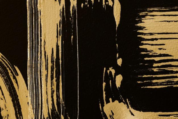 Fond texturé or de luxe dans l'art kintsugi noir