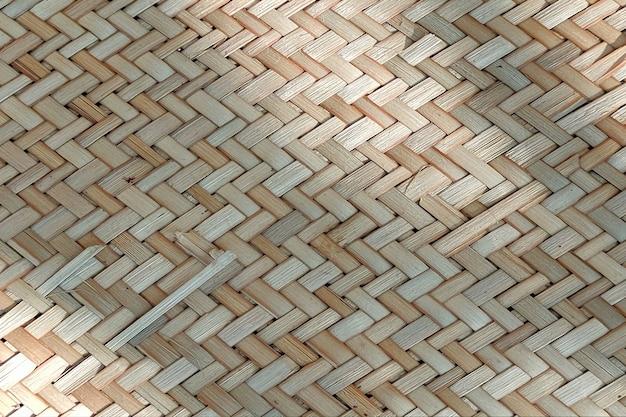 Fond de texture en osier de bambou