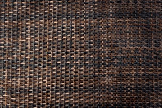 Fond de texture en osier. détail de la texture transparente de tissage.