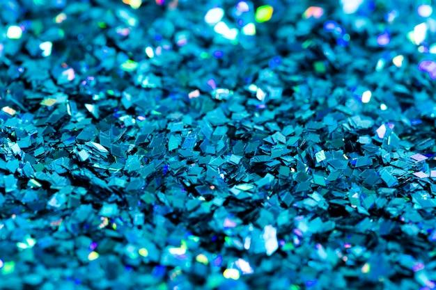 Fond texturé de paillettes bleu brillant
