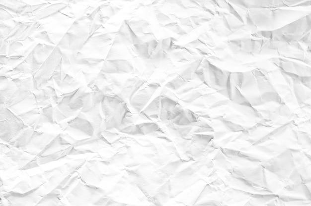 Fond texturé de papier blanc froissé espace