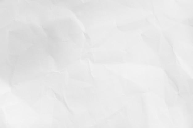 Fond de texture de papier blanc froissé recyclé