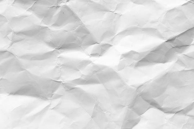 Fond de texture de papier blanc froissé
