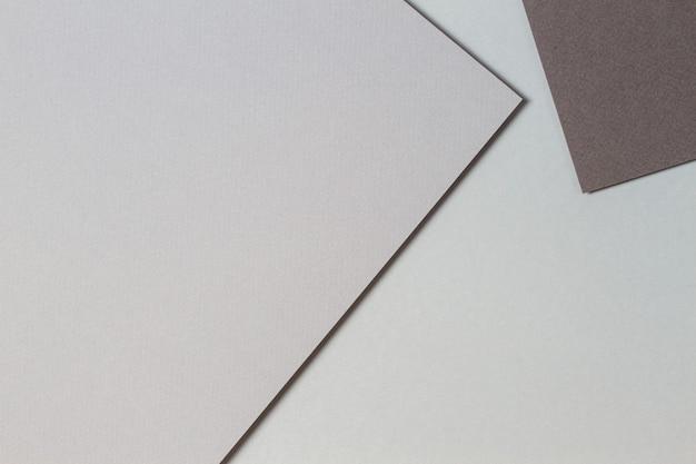 Fond de texture de papier créatif monochrome gris abstrait formes et lignes géométriques minimales
