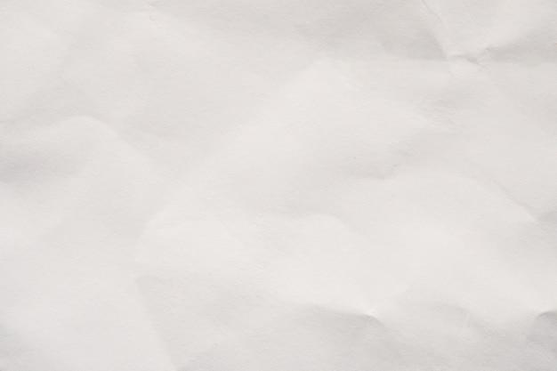 Fond de texture de papier froissé blanc abstrait