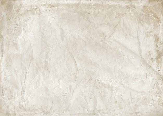 Fond de texture de papier froissé blanc. papier peint vintage