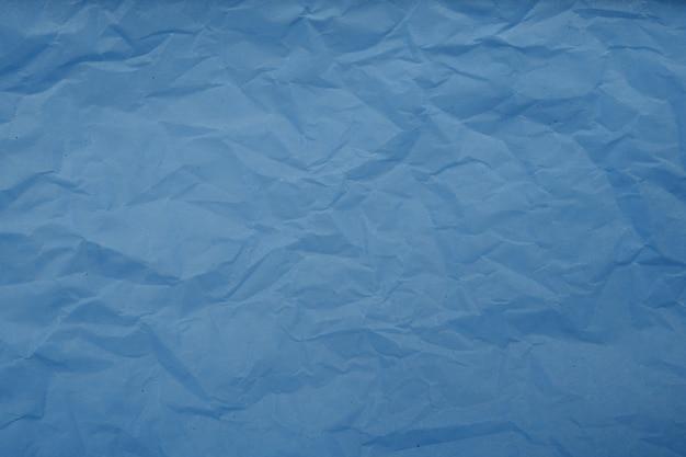 Fond de texture de papier froissé bleu pâle