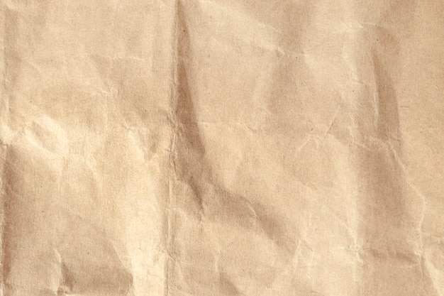 Fond de texture de papier froissé brun.