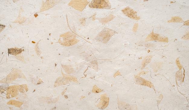 Fond de texture de papier kraft brun à partir de feuilles naturelles fabriquées.