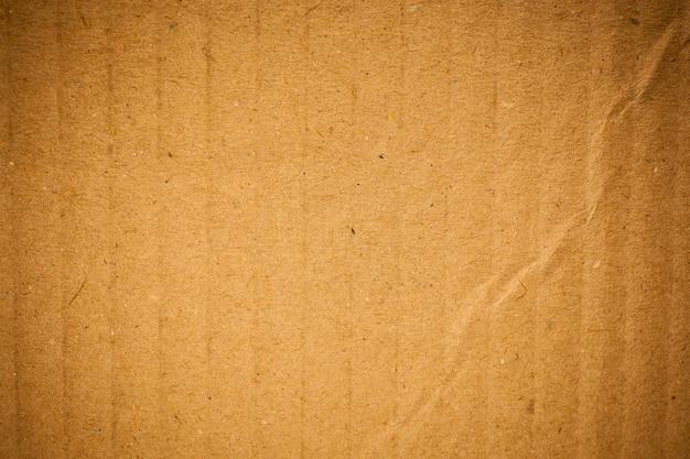 Fond de texture de papier ondulé brun.