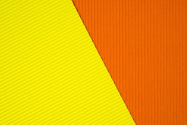 Fond de texture de papier ondulé jaune et orange