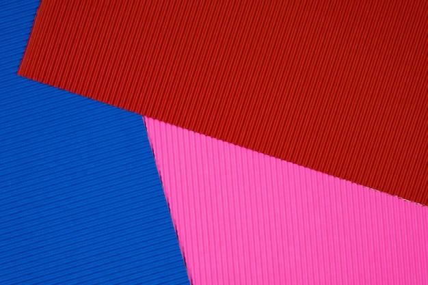 Fond de texture de papier ondulé multicolore