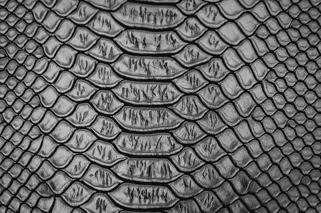 Fond de texture de peau de serpent noir