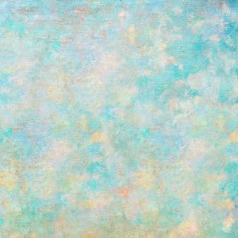 Fond texturé de peinture à l'huile abstraite verte et jaune