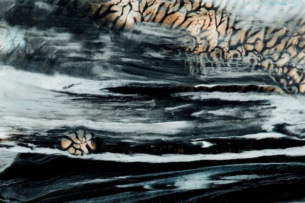 Fond texturé de peinture à l'huile bleu profond