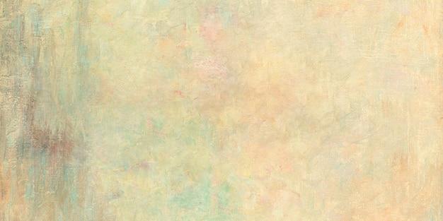 Fond texturé de peinture à l'huile jaune grunge