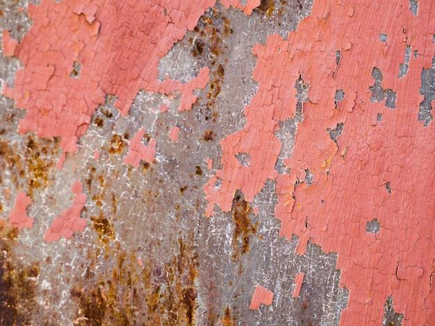 Fond texturé de peinture pelée patinée