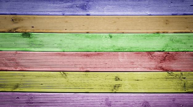 Fond de texture de planches de bois naturel multicolore