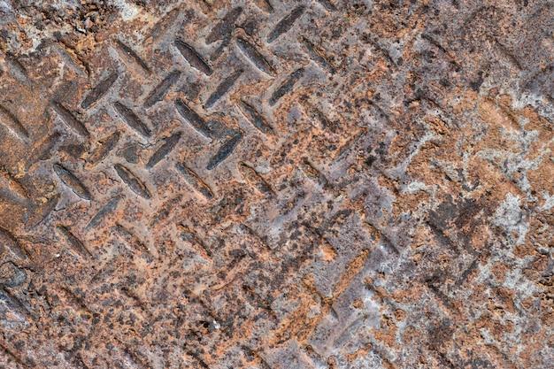 Fond de texture de plaque en acier rouillé.