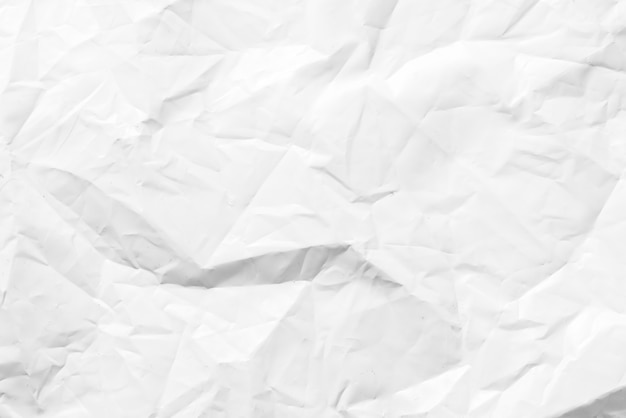 Fond texturé en polyéthylène froissé blanc