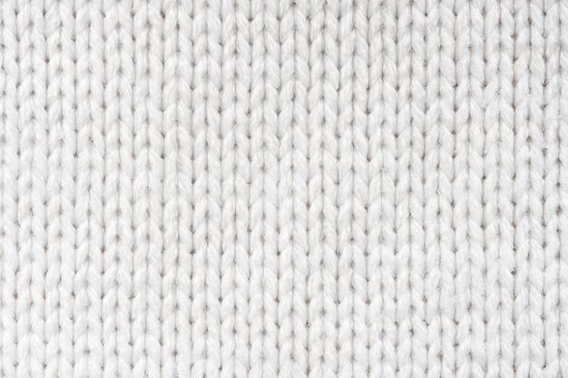 Fond de texture de pull en laine blanche