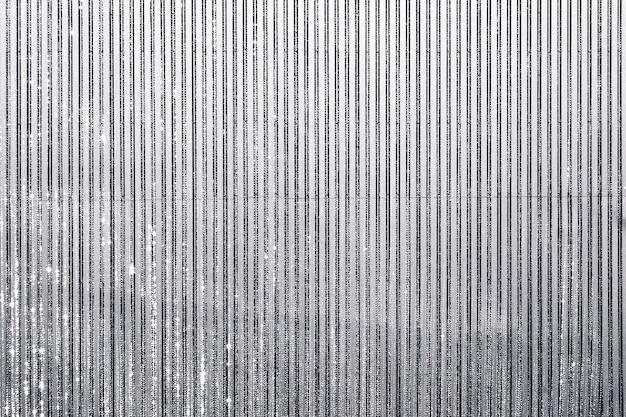 Fond texturé de rideau d'argent grunge