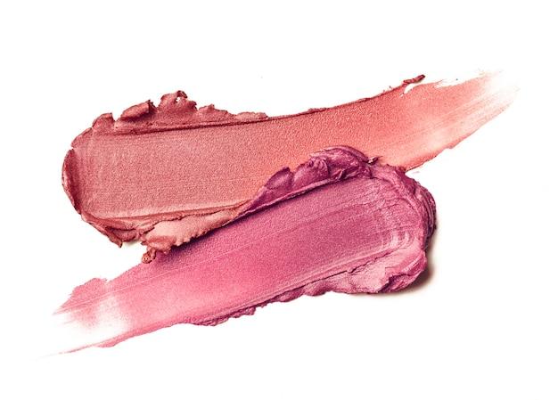 Fond de texture rouge vague tache rouge à lèvres