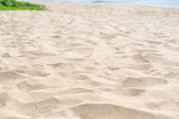 Fond de texture de sable. modèle de désert brun de la plage tropicale. fermer.