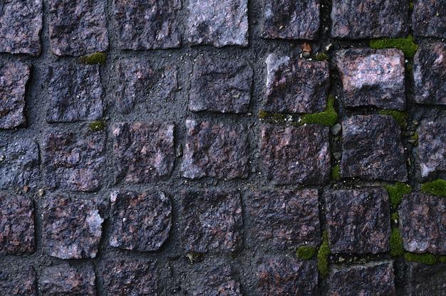 Fond de texture de sol en briques naturelles brunes